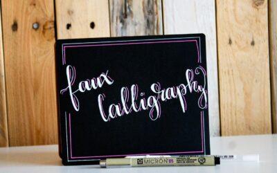 Handletteren voor beginners – faux calligraphy